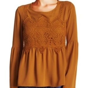 25% OFF 2+ | Goldenrod Yellow Boho Bell Sleeve Top